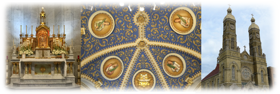 altar-sanctuary dome-front of church