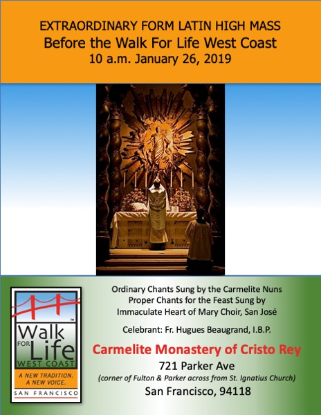 Immaculate Heart of Mary Oratory Choir to Sing at Two Masses