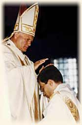 Ordination of Msgr. Wach by Pope John Paul II