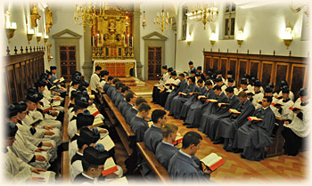 Vespers at the seminary