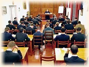 Seminarians at class