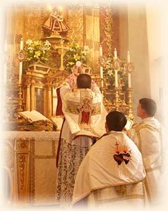 Monsignor Wach at Mass